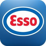 Esso fuel station logo in apps for traveling in Germany