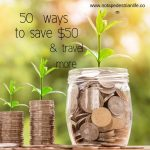 50 ways to save $50 to travel